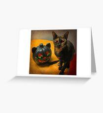Happy Halloween Kitties Greeting Card