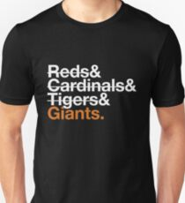 San Francisco Giants 2012 Opponents (Tigers) Unisex T-Shirt