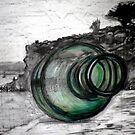 """Message in a Bottle"" Mornington Peninsula by Belinda ""BillyLee"" NYE (Printmaker)"