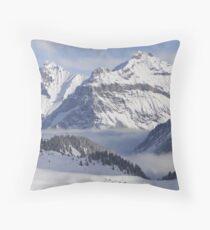 Bire Mountain from Sunnbuel, Kandersteg Throw Pillow