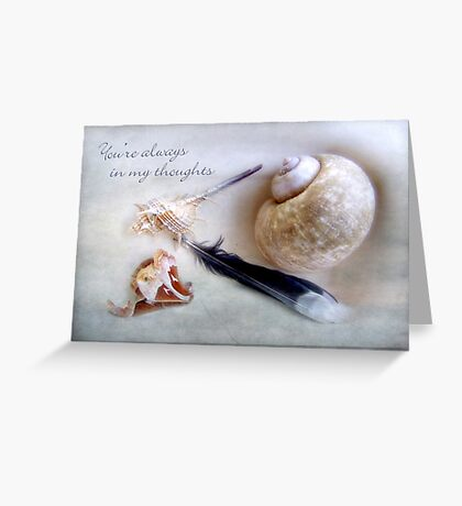 Shells and Feather Thinking of You Card Greeting Card