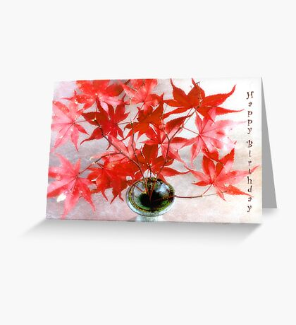 Maple Leaves Happy Birthday Card Greeting Card