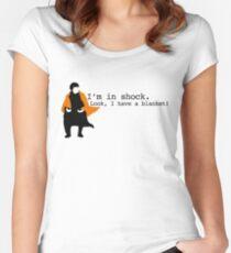 Sherlock Shock Blanket Women's Fitted Scoop T-Shirt