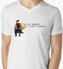 Sherlock Shock Blanket Men's V-Neck T-Shirt