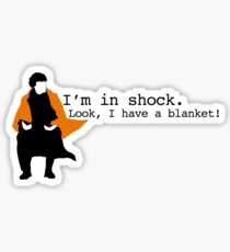 Sherlock Shock Blanket Sticker