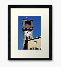 Stone Bell Tower (Campanile) Lucca, Italy Framed Print