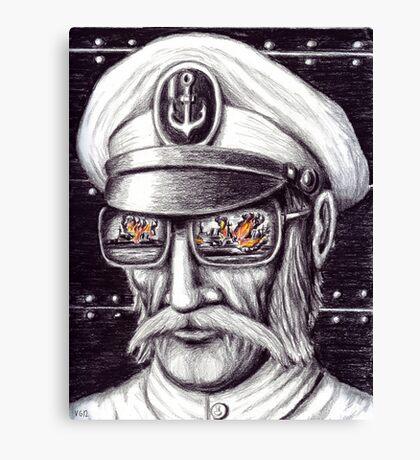 Captain colored pencils drawing Canvas Print