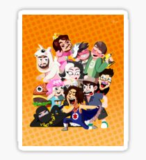 Grump gang and co Sticker