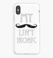 My Moustache Isn't Ironic iPhone Case/Skin