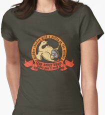 Rubber chicken with a pulley in the middle Women's Fitted T-Shirt