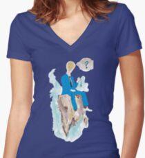 Pensatore illuminato Women's Fitted V-Neck T-Shirt