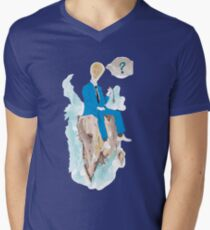 Pensatore illuminato Men's V-Neck T-Shirt