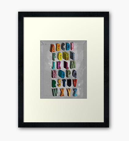 alphabet city Framed Print