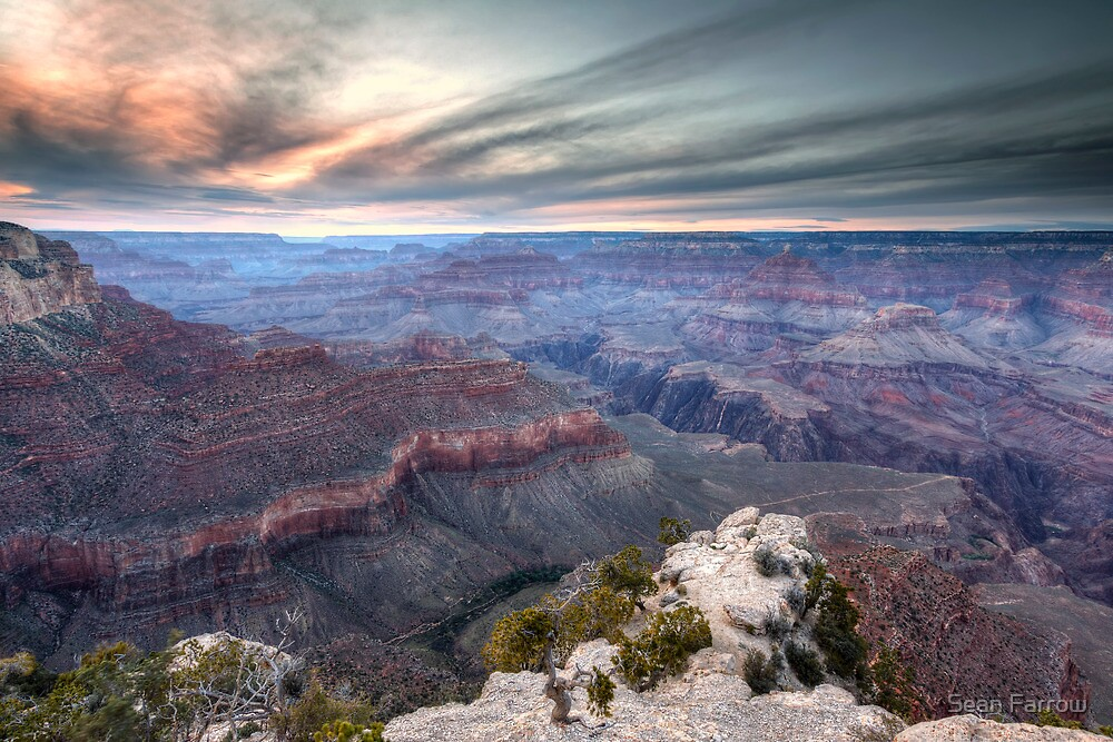 The Canyon's Last Light - Arizona, USA by Sean Farrow