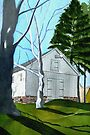 White Barn  by Marriet
