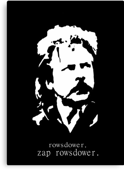 Rowsdower.  Zap Rowsdower.  Poster by Margaret Bryant