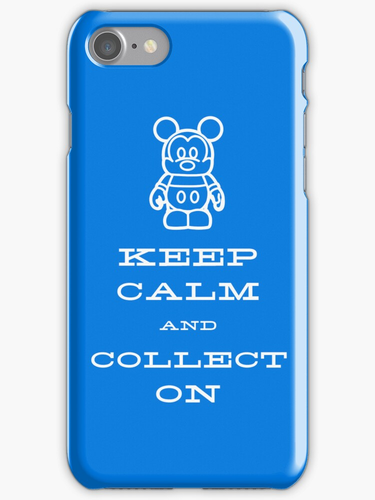 Keep Calm and Vinyl On Blue Phone by stitzerb