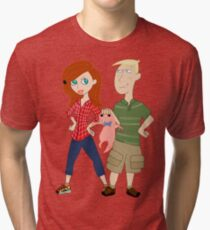 Amy Possible + Rory Stoppable  Tri-blend T-Shirt