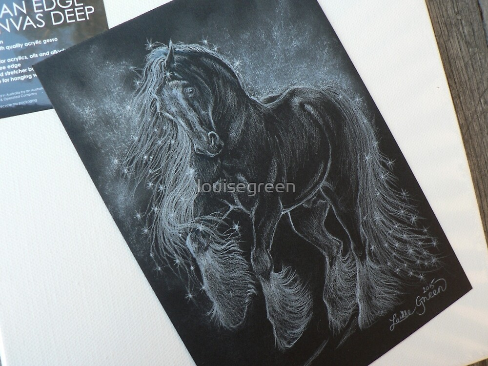 Gypsy Starlight - white charcoal sketch by louisegreen