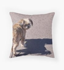 Who's following who? Throw Pillow