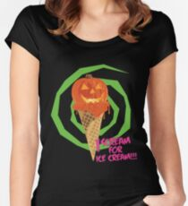 I Scream For Ice Cream!!! (Halloween Flavored) Women's Fitted Scoop T-Shirt