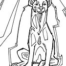 Spotted hyena, coloring book page by Gwenn Seemel