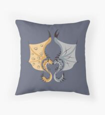 Heaven and Earth - Silver Rathalos x Gold Rathian Throw Pillow