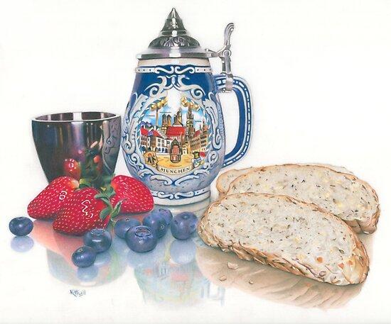 Beer, Bread & Berries by Karen  Hull