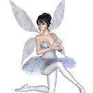 Snowflake Fairy Ballerina Kneeling by algoldesigns