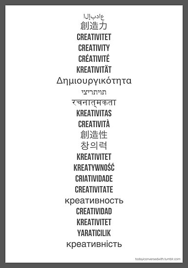 """How do you say """"creativity""""? by TICW"""
