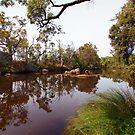 Reflections on a rocky river by georgieboy98