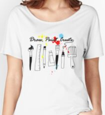 Draw Paint Create   Women's Relaxed Fit T-Shirt