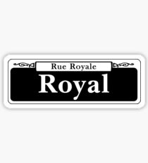 Royal St., Street Sign, New Orleans, USA Sticker