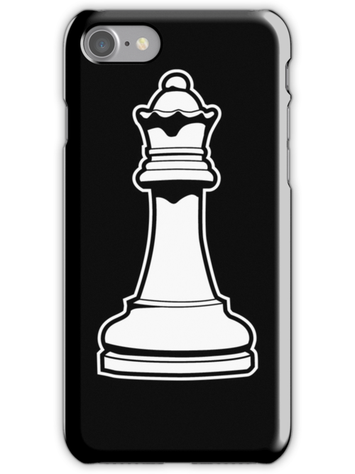 Queen Chess Piece iPhone case by DetourShirts