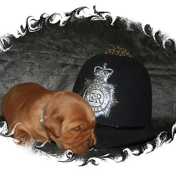Sweet Dreams Golden Retriever Style- The Police Officer by goldnzrule