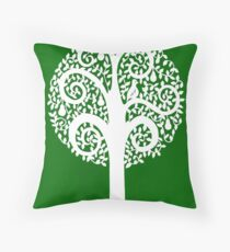 partridge in a pear tree - green Throw Pillow
