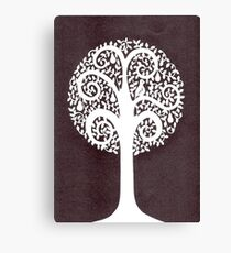 partridge in a pear tree - grey Canvas Print