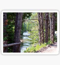 Along the River Sticker