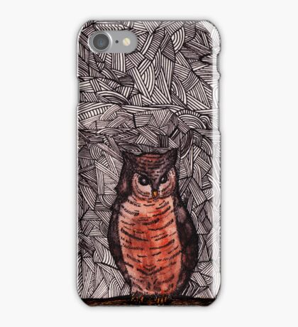 Owl and the Moon iPhone Case/Skin