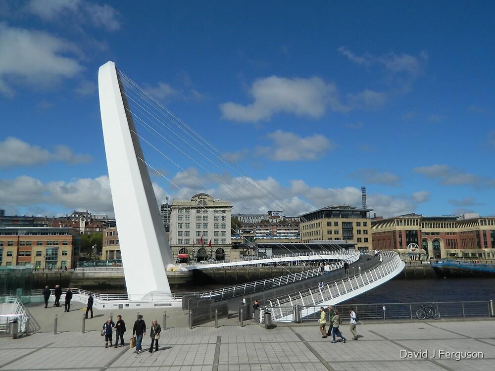 Gateshead Millennium Bridge by David J Ferguson