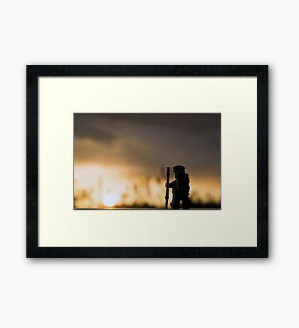 Sunset Hike Framed Print
