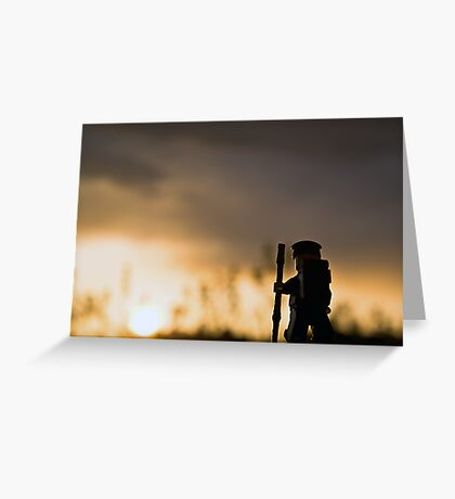 Sunset Hike Greeting Card