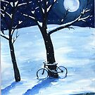 Snow Covered Bicycle by dvampyrelestat