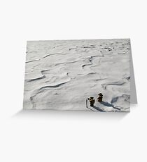 Winter Hike Greeting Card