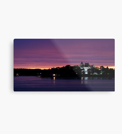 A Boldt Castle Evening Metal Print