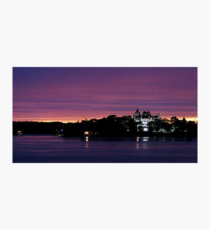 A Boldt Castle Evening Photographic Print