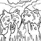 Grizzly bear, coloring book image by Gwenn Seemel