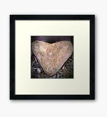 Heart Doorstop Framed Print