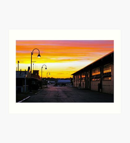 Twilight at the Fairgrounds Art Print