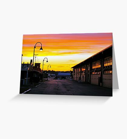 Twilight at the Fairgrounds Greeting Card
